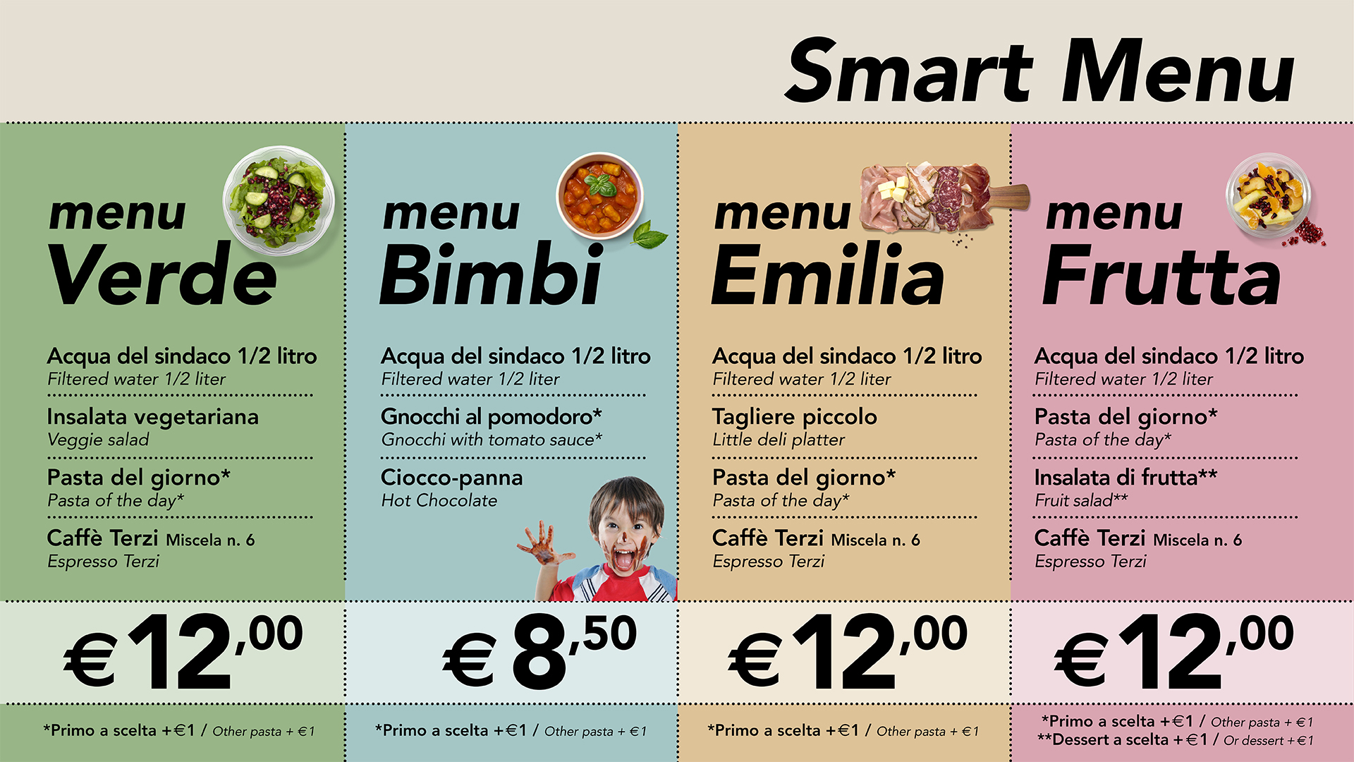 Smart Menu | Bottega Portici - High Quality Italian Food